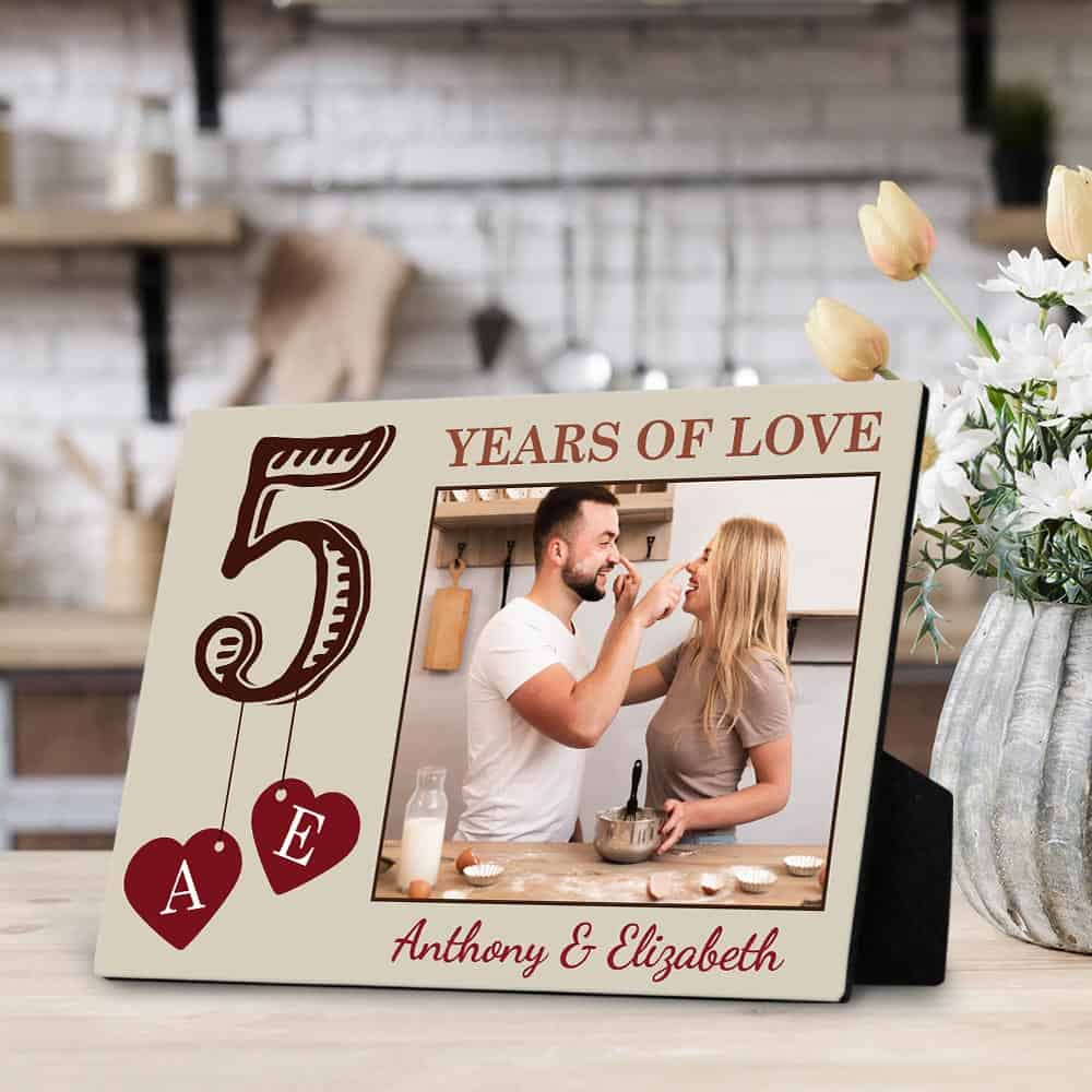 5 Years Of Love desktop plaque