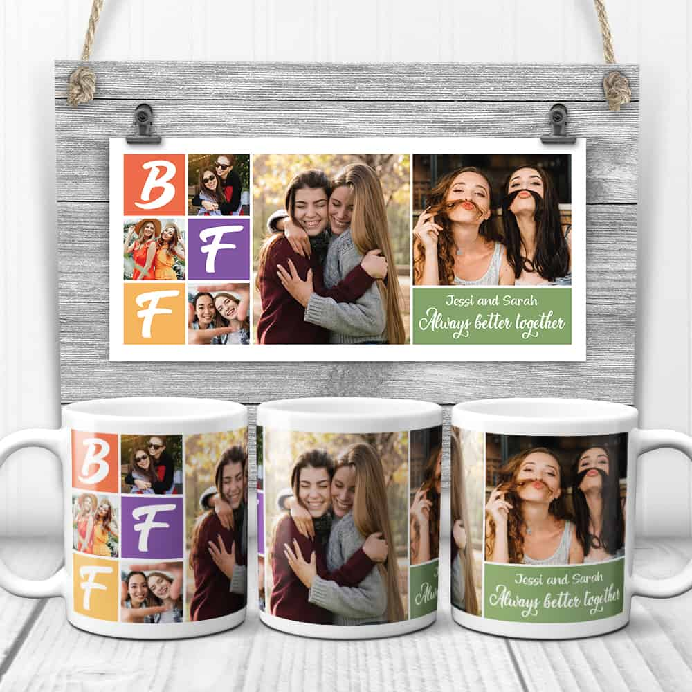 BFF photo collage mug - gift for best friend