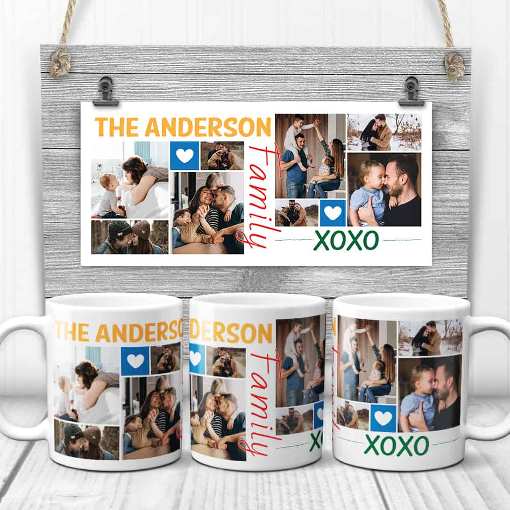 Family Xoxo Collage Mug