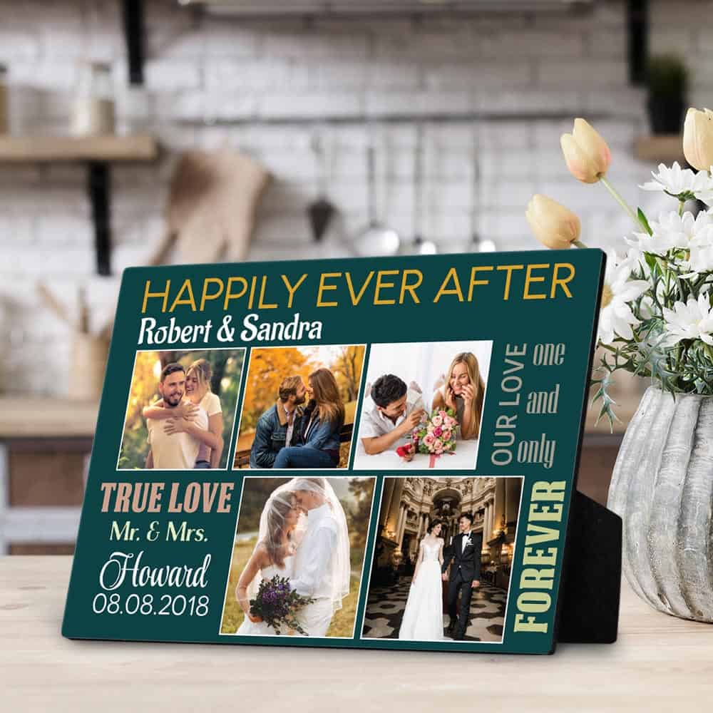 Happily Ever After Custom Photo Plaque