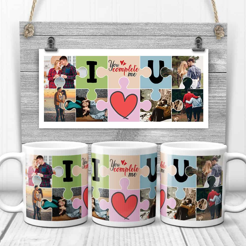 you complete me photo collage mug