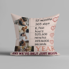 1 Year And We've Only Just Begun Custom Photo Collage Pillow