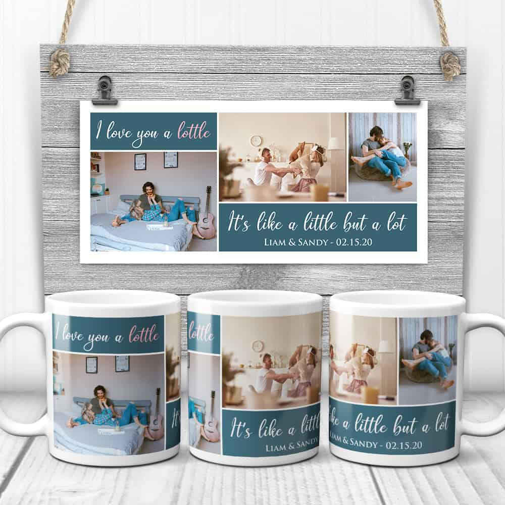 I Love You A Lotte It's Like A Little But A Lot Custom Photo Collage Mug