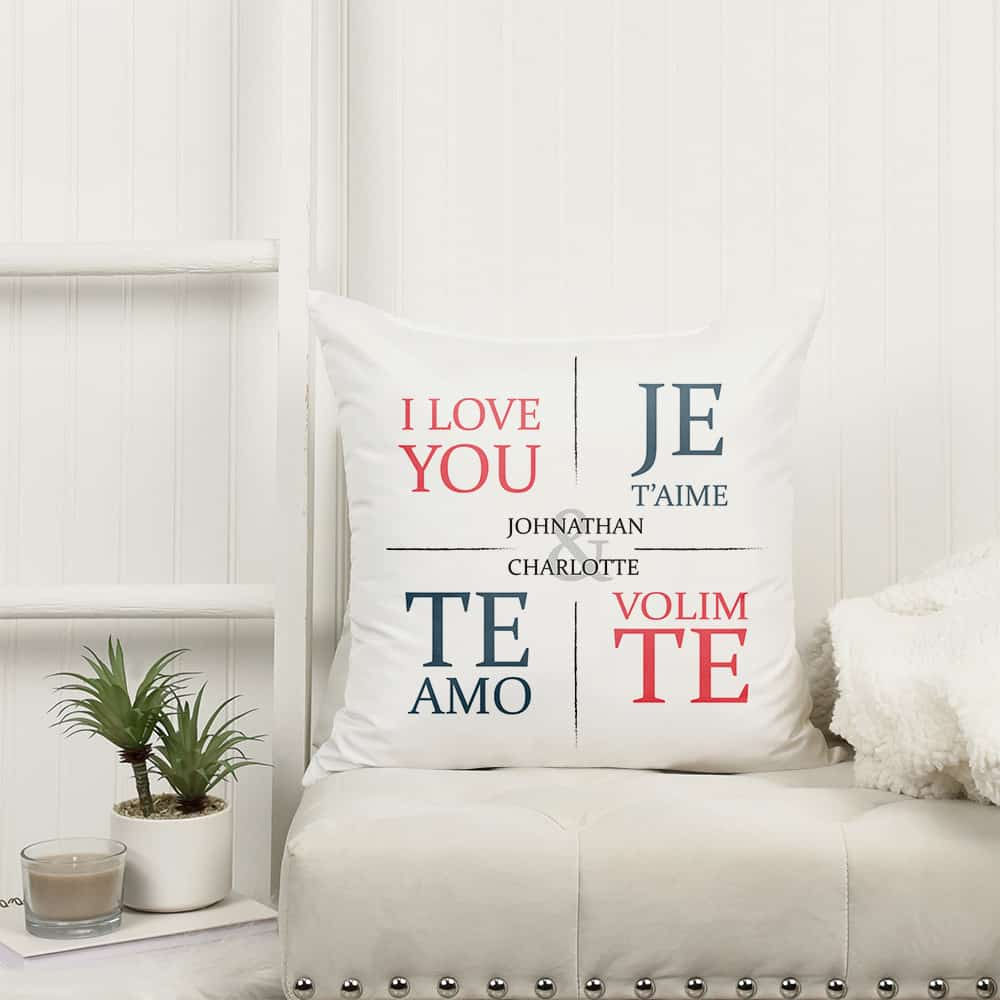 """I Love You"" Personalized Pillow"