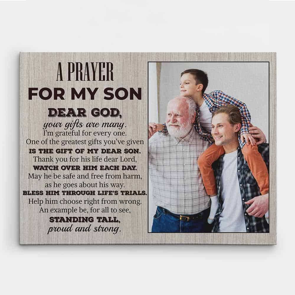 A Prayer For My Son Custom Photo Canvas Print
