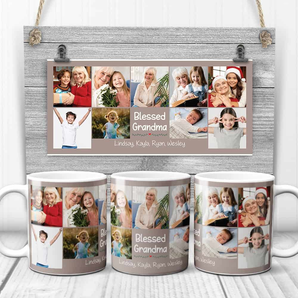 blessed grandma photo coffee mug - gift for grandma