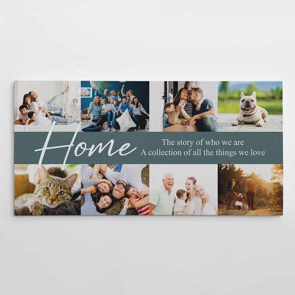 home the story of who we are custom photo canvas print
