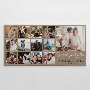 Our First Year Together custom photo canvas print