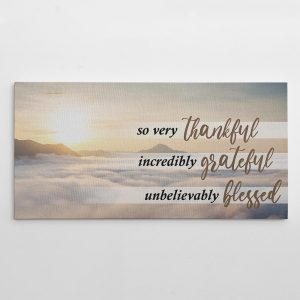 so very thankful christian wall art canvas print