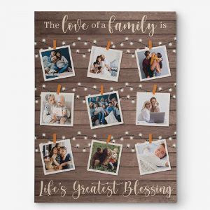 The love of a family custom photo canvas print