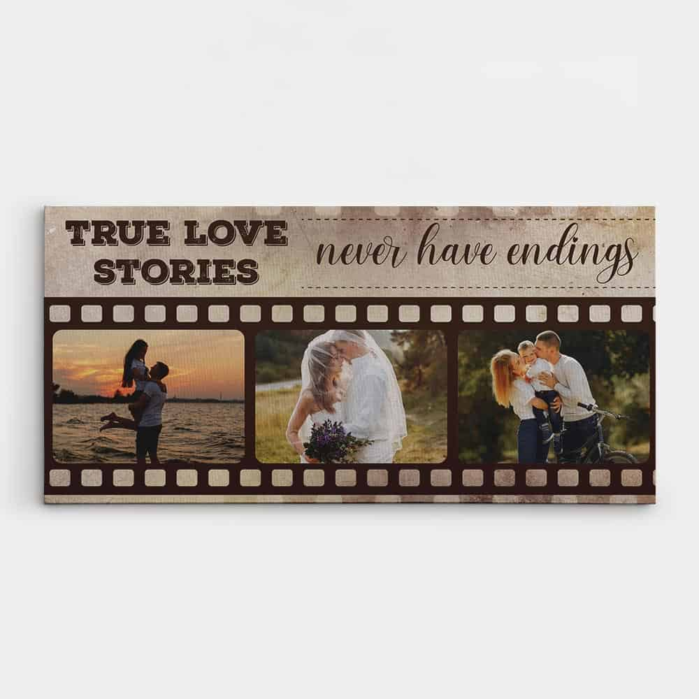 true love stories never have endings canvas print