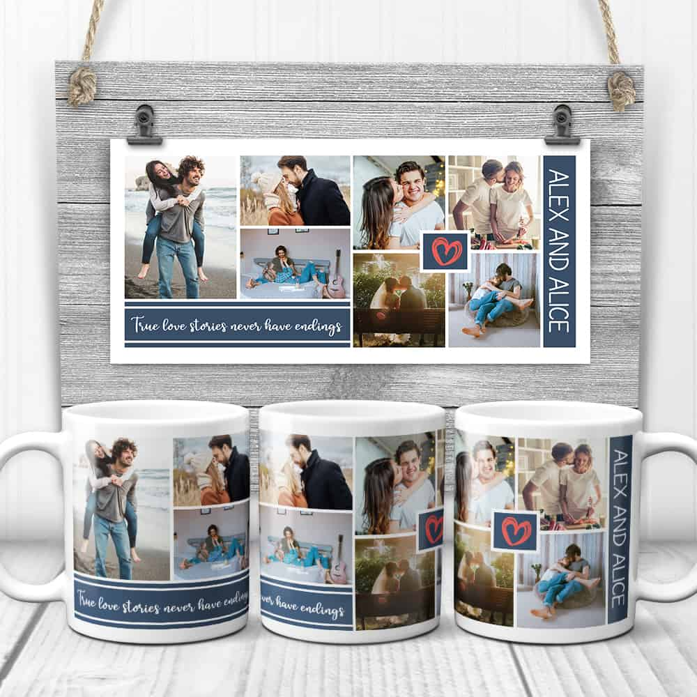 """True Love Stories Never Have Endings"" Mugs - gifts for couples"