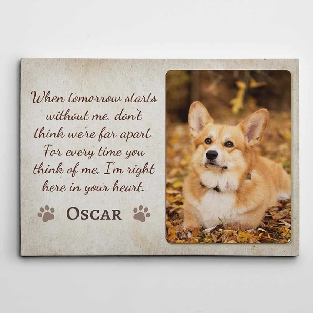 When Tomorrow Starts Without Me custom photo canvas print