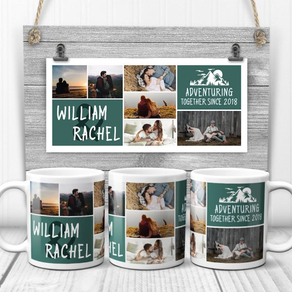 adventuring together since custom photo mug - anniversary gift idea