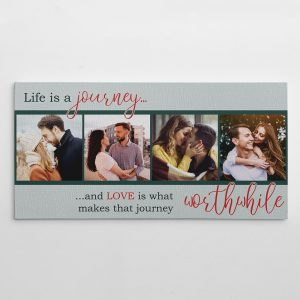 """Life is A Journey"" Photo Canvas Print - romantic gift"