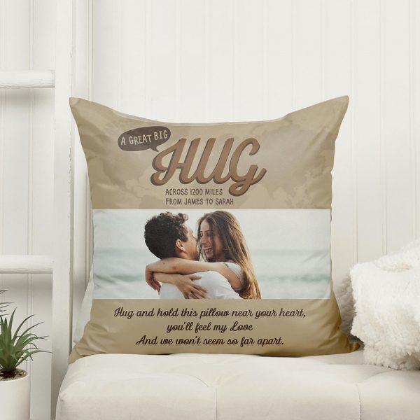 a great big hug custom pillow - long distance gift idea