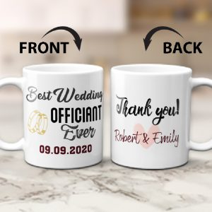 Best Wedding Officiant Ever custom mug