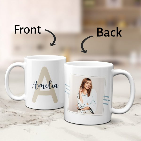 Name mug with initial custom photo mug