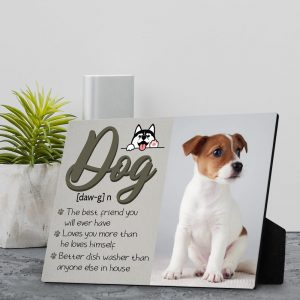 Dog Definition Custom Desktop Photo Plaque