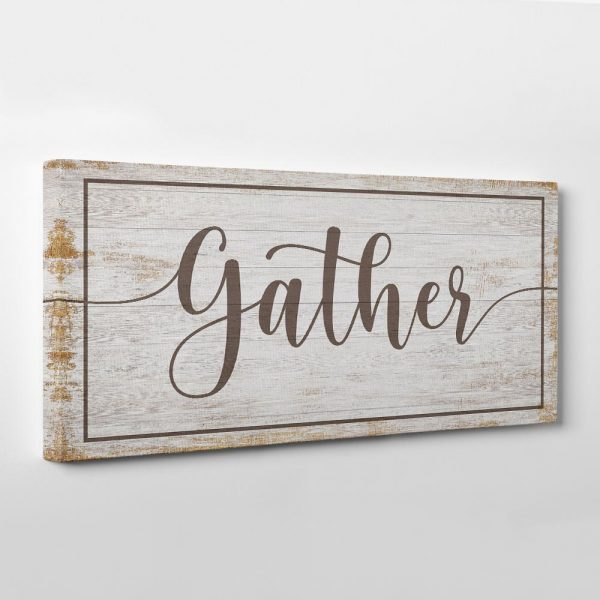 Gather Wood Style Wall Art Canvas Print