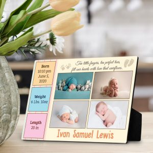 Ten little fingers custom desktop plaque