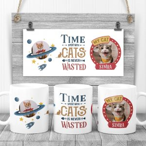 time spent with cats custom mug