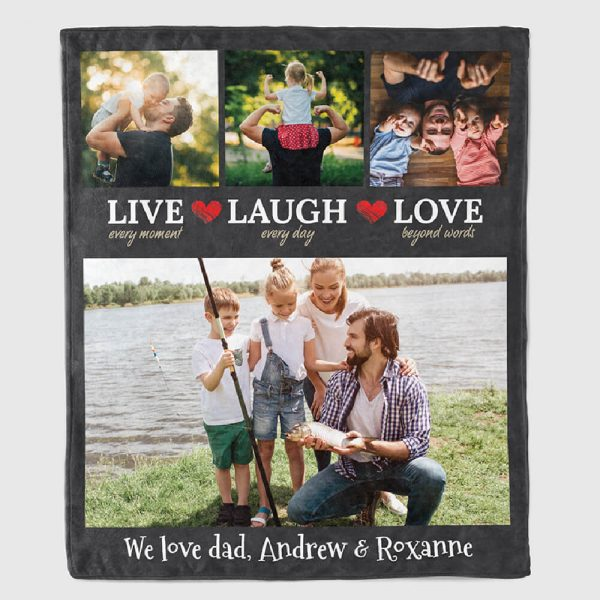 family gift - live every moment personalized blanket