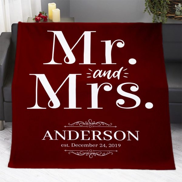 Mr And Mrs Personalized Blanket