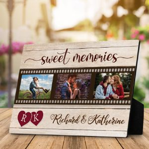 """Sweet Memories"" Personalized Photo Plaque"