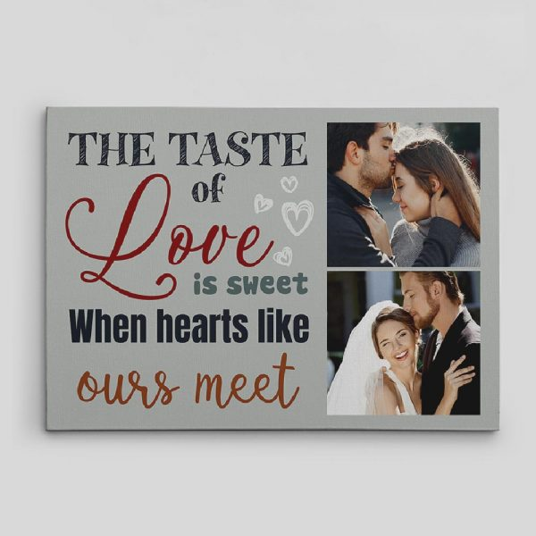 The Taste Of Love Is Sweet Custom Photo Canvas Print