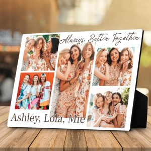 Always Better Together Custom Photo Collage Desktop Plaque