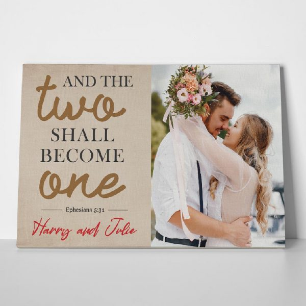 And The Two Shall Become One Custom Photo Canvas Print