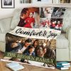 comfort and joy custom photo collage blanket