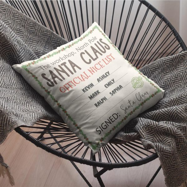 Santa Claus Official Nice List Personalized Pillow
