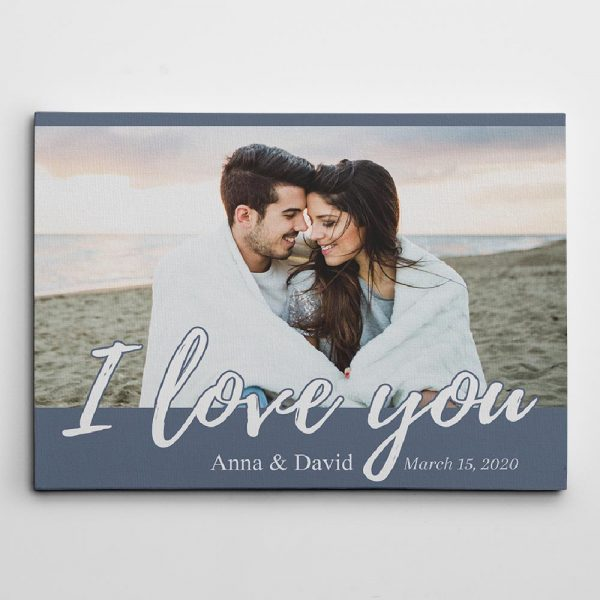 I Love You Custom Photo Canvas Print