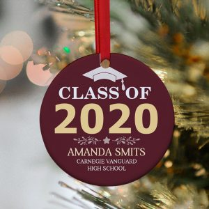 Class Of 2020 Custom Year Graduation Ornament