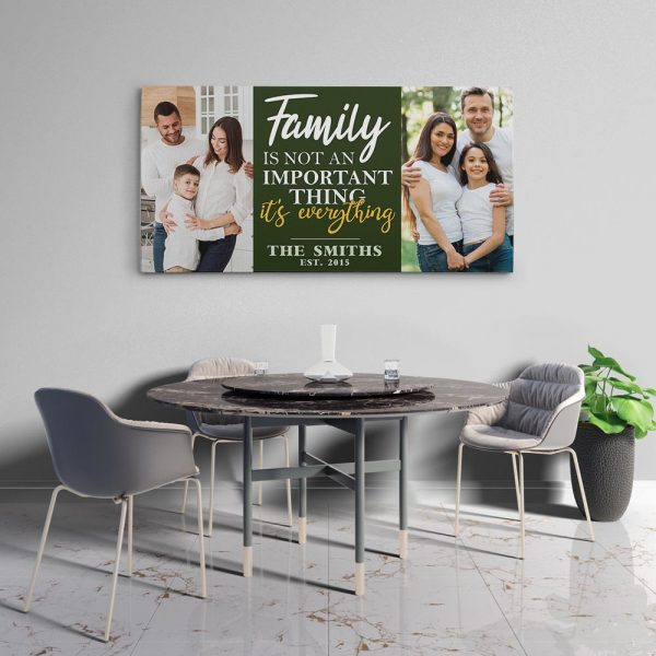 Family Is Not An Important Thing It's Everything Custom Photo Canvas Print