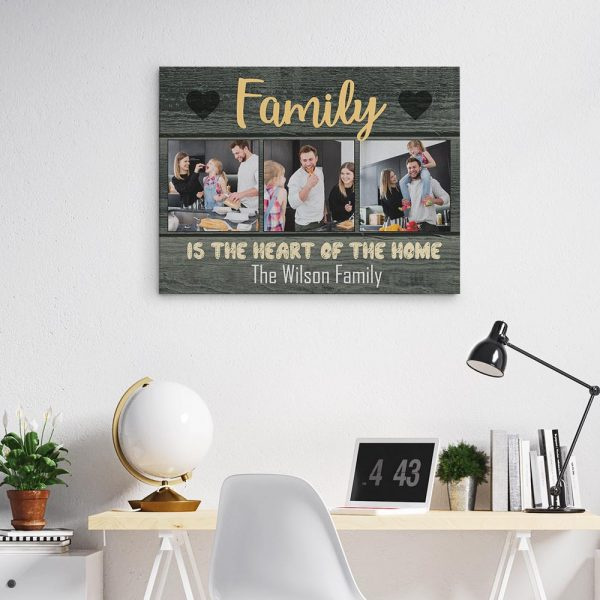 Family Is The Heart Of The Home Custom Photo Canvas Print