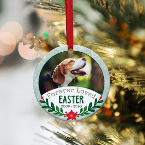 Forever Loved Dog Custom Photo Ornament