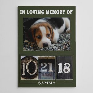 In Loving Memory Of Pet Lover Custom Date Letter Art Photo Canvas Print