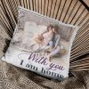 With You I Am Home Custom Photo Suede Pillow
