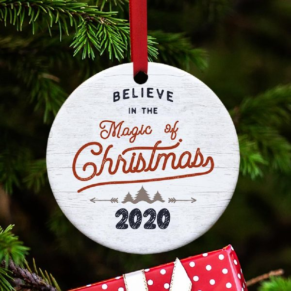 Believe in the magic of Christmas personalized ornament