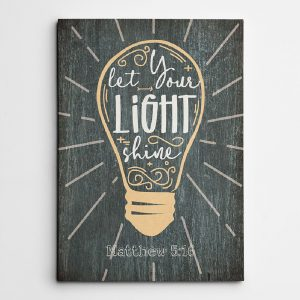 Let Your Light Shine Canvas Print