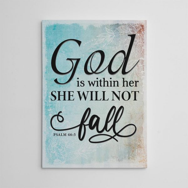 God Is Within Her She Will Not Fall Canvas Print