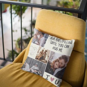 Hug This Pillow Until You Can Hug Me Custom Photo Pillow