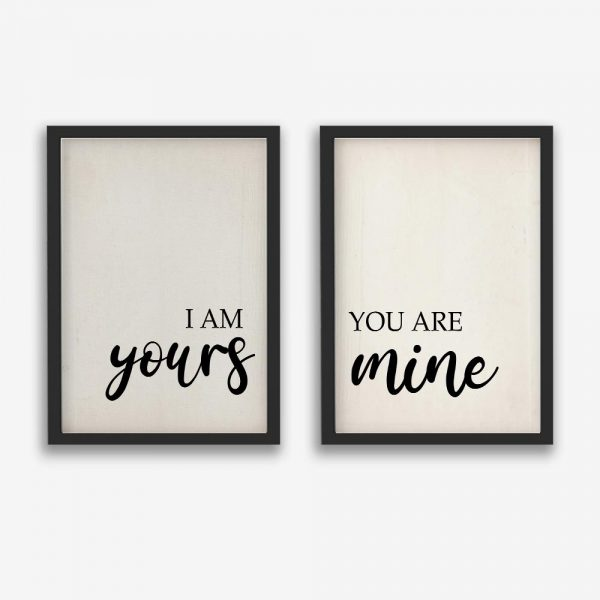 I Am Yours You Are Mine 2 - Canvas Prints