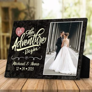 Let The Adventure Begin Custom Desktop Plaque