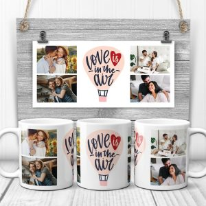 Love Is In The Air Custom Photo Collage Mug