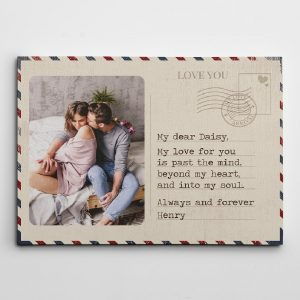 Love you letter custom canvas print