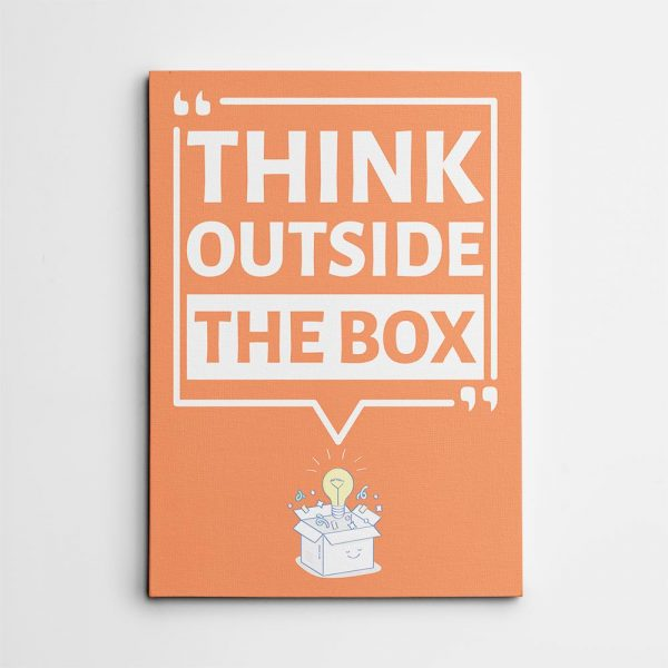 Think Outside The Box - Canvas Print